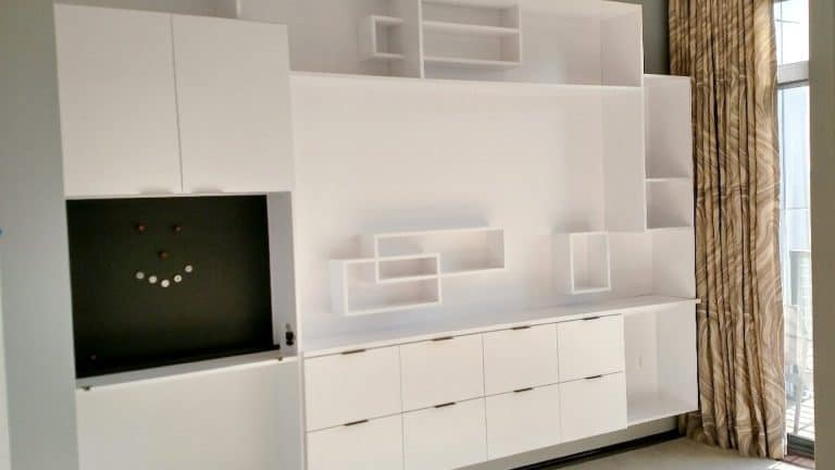 custom entertainment center by Cutting Edge Cabinetry in Prince Frederick MD