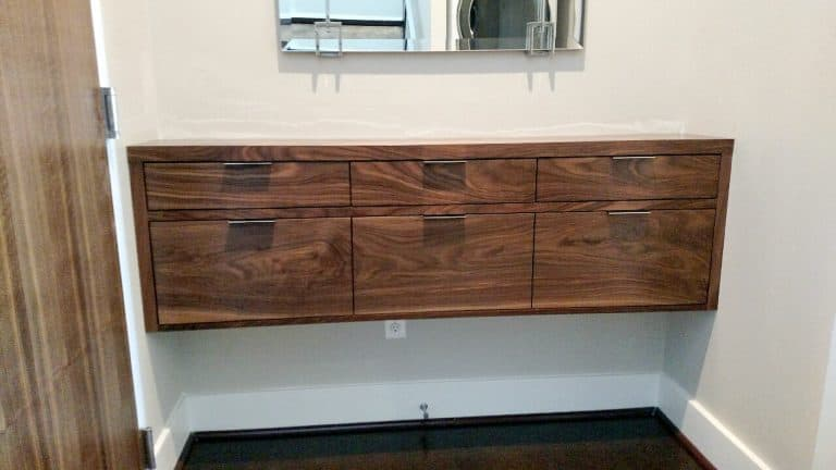custom floating dresser by Cutting Edge Cabinetry in Prince Frederick MD